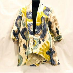Vintage 3 Sisters Linen Large Lined Blazer Jacket